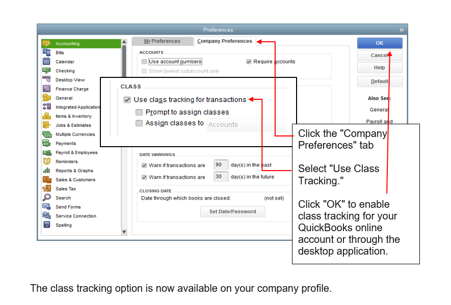 CLASS TRACKING - Diversified Business Solutions